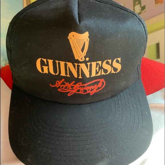 BRAND NEW OFFICIAL GUINNESS DRINK HEARP LOGO BLACK SNAPBACK CAP HAT